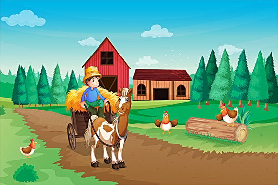 farming illustration