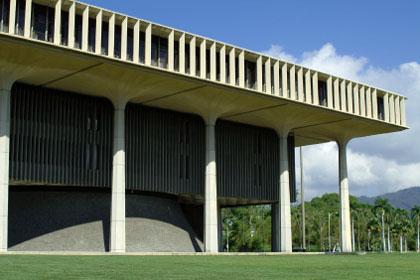 Hawaii state capitol building, Honolulu, HI