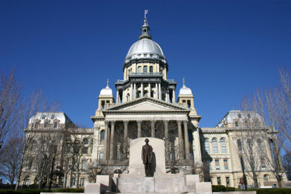 Illinois state capitol building, Springfield, IL