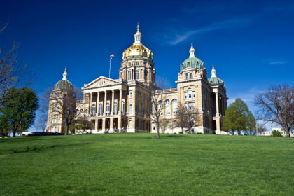 Iowa state capitol building, Des Moines, IA