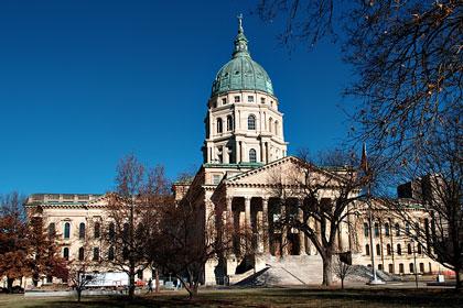 Kansas state capitol building, Topeka, KS