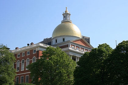 Massachusetts state capitol building, Boston, MA