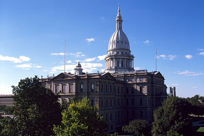 Michigan state capitol building, Lansing, MI