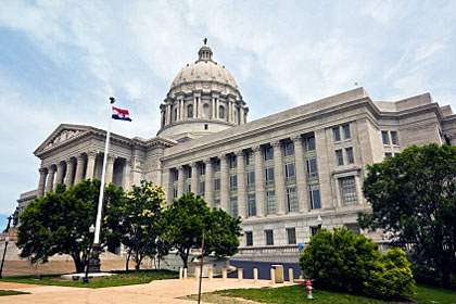 Missouri state capitol building, Jefferson City, MO