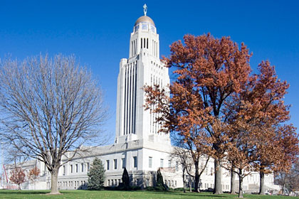 Nebraska state capitol building, Lincoln, NE