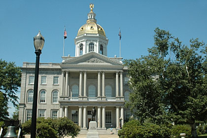 New Hampshire state capitol building, Concord, NH