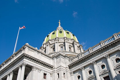 Pennsylvania state capitol building, Harrisburg, PA