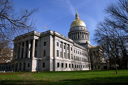 West Virginia state capitol building, Charleston, WV